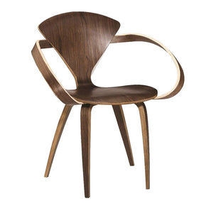 Dining Chairs - Fine Mod Imports FMI10023-WALNUT Wooden Arm Chair, Walnut | 730669623950 | Only $239.80. Buy today at http://www.contemporaryfurniturewarehouse.com