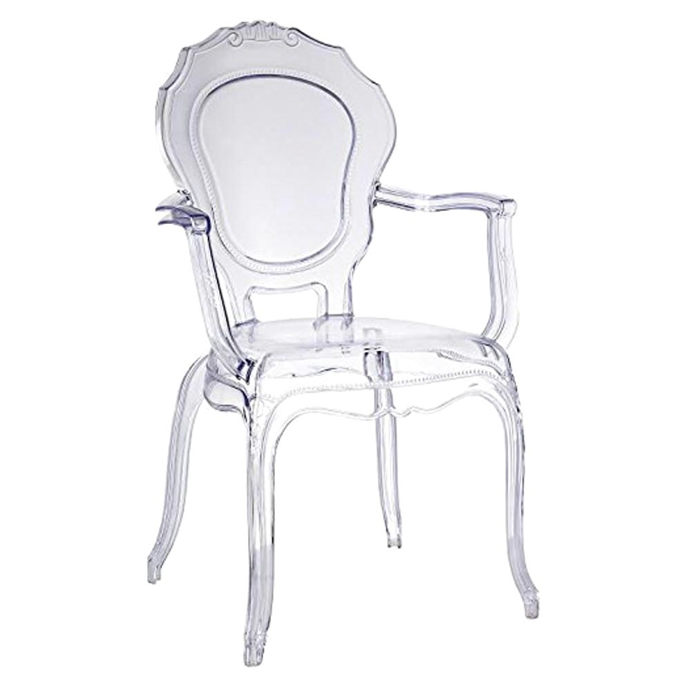 Traditional Dining Chair With Arms Clear