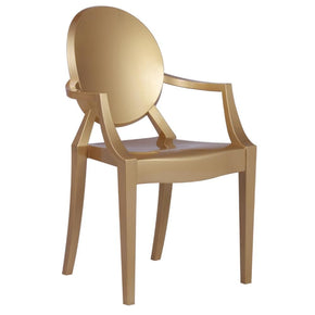 Clear Arm Chair Gold Dining