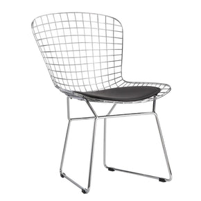 Wire Side Chair Black Dining