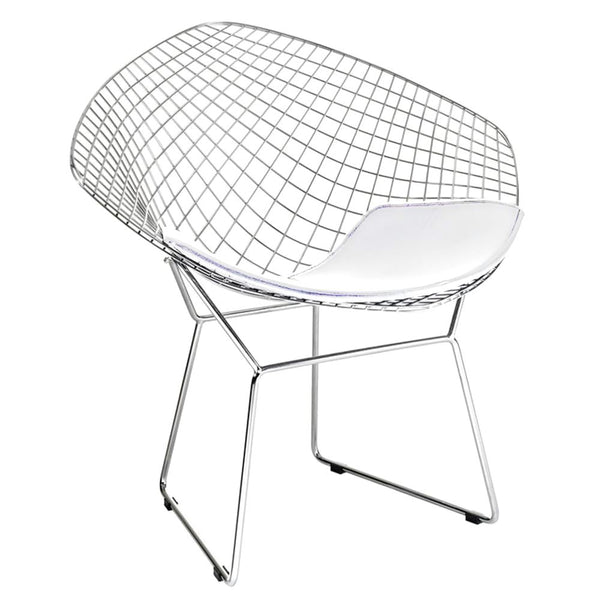 Wire Diamond Chair White Dining
