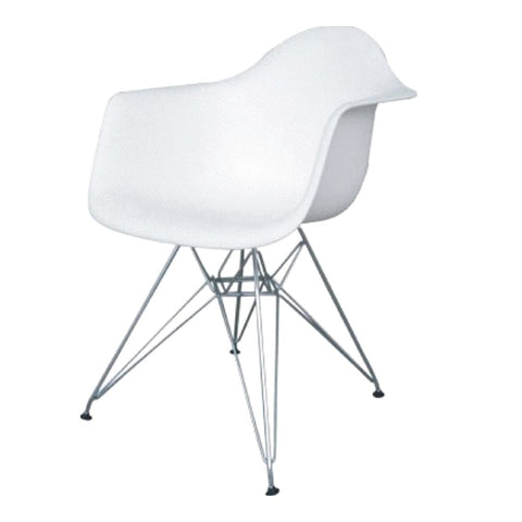 Wireleg Dining Arm Chair White