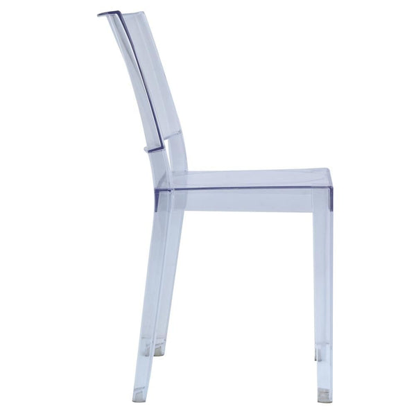 Clear Square Side Chair Dining