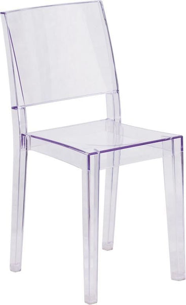 Phantom Transparent Stacking Dining Side Chair Clear