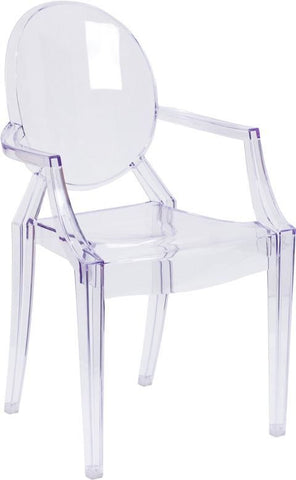 Ghost Chair With Arms In Transparent Clear Dining