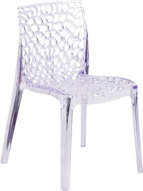Superior Vision Series Transparent Clear Stacking Side Chair