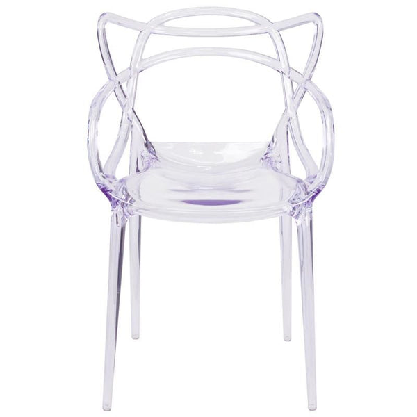 Nesting Transparent Stacking Indoor / Outdoor Side Chair Dining