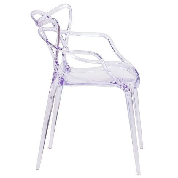 Dining Chairs - Flash Furniture FH-173-APC-GG Nesting Transparent Stacking Indoor / Outdoor Side Chair | 889142060741 | Only $74.80. Buy today at http://www.contemporaryfurniturewarehouse.com