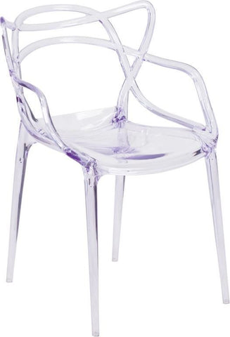 Nesting Transparent Stacking Indoor / Outdoor Side Chair Clear Dining