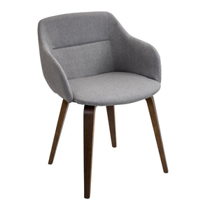 Campania Chair Walnut Grey Dining