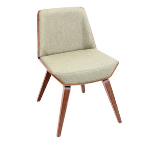 Corazza Chair Walnut Green Dining