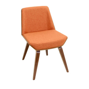 Corazza Chair Walnut Orange Dining