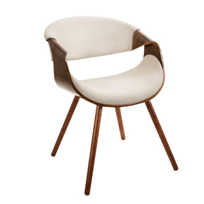 Curvo Chair Walnut Cream Dining