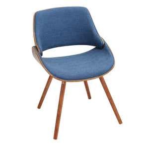 Fabrizzi Chair Walnut Denim Blue Dining