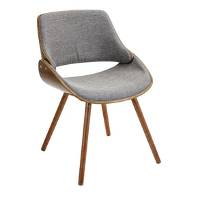 Fabrizzi Chair Walnut Grey Dining