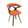 Gardenia Chair Walnut, Orange