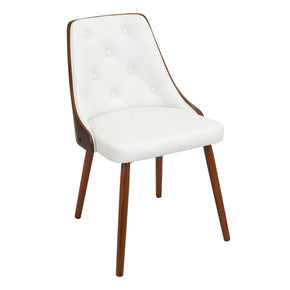 Gianna Chair Walnut White Dining