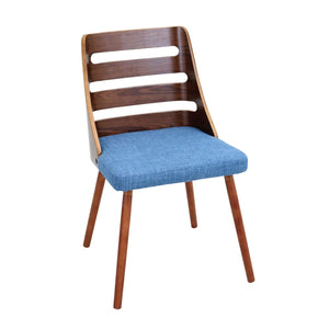 Dining Chairs - Lumisource CH-TRV WL+BU Trevi Chair Walnut, Blue | 681144439781 | Only $139.80. Buy today at http://www.contemporaryfurniturewarehouse.com