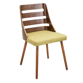 Dining Chairs - Lumisource CH-TRV WL+GN Trevi Chair Walnut, Green | 681144439798 | Only $139.80. Buy today at http://www.contemporaryfurniturewarehouse.com