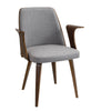 Verdana Chair Walnut, Grey