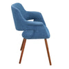 Vintage Flair Chair Walnut Blue Dining