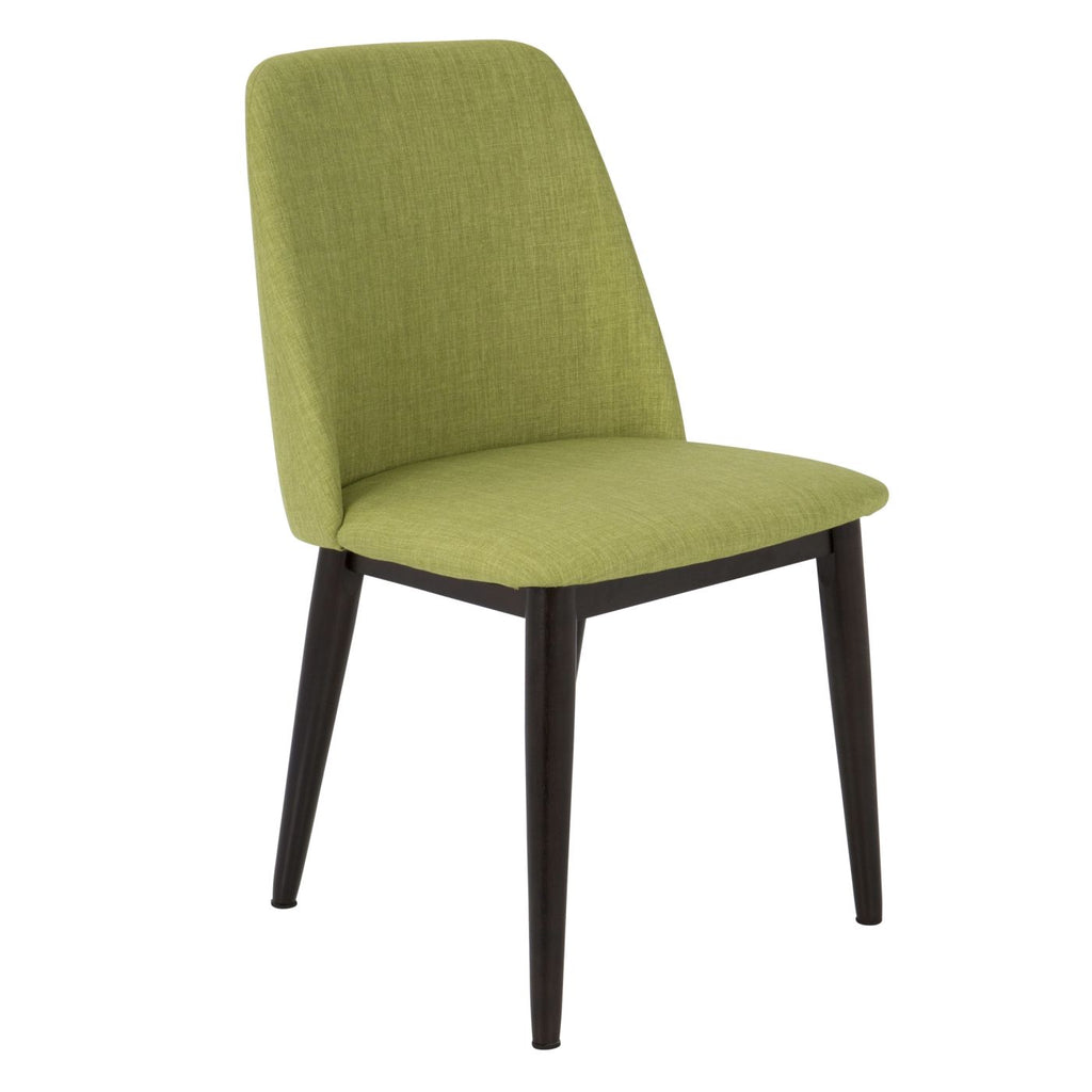 Awesome Tintori Dining Chair Set Of 2 Brown Wood Green Fabric Ibusinesslaw Wood Chair Design Ideas Ibusinesslaworg