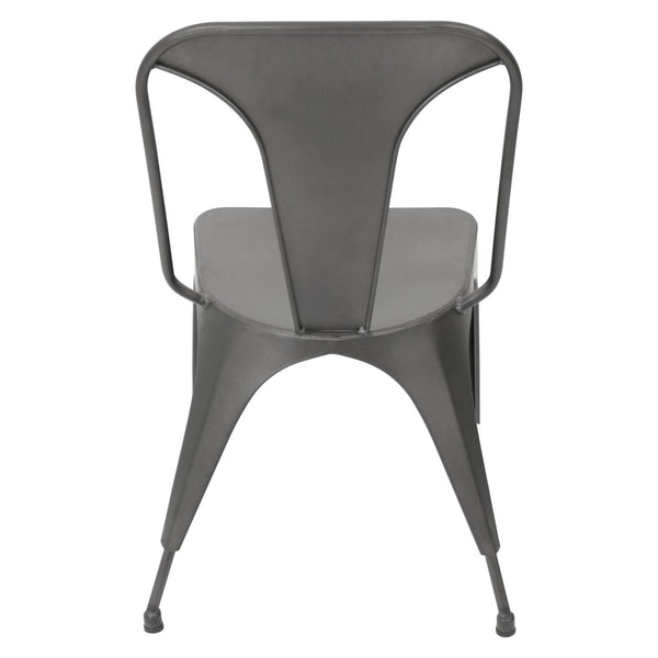 Austin Industrial Dining Chair - Set Of 2 Matte Grey