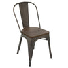 Oregon Industrial Dining Chair - Set of 2 Antique, Espresso