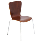 Bentwood Stacker Chair Walnut Dining