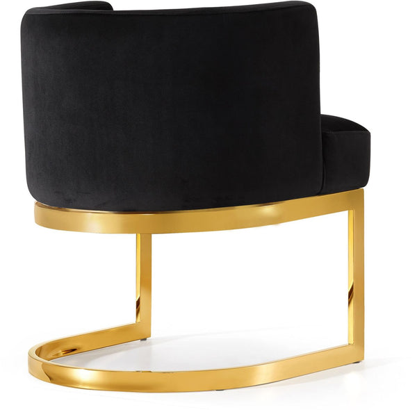 Peachy Buy Meridian 718Black C Gianna Black Velvet Dining Chair Gold Stainless Steel Set Of 2 At Contemporary Furniture Warehouse Lamtechconsult Wood Chair Design Ideas Lamtechconsultcom