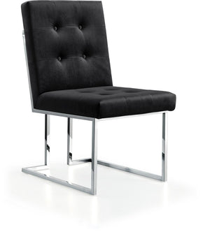 Dining Chairs - Meridian 731Black-C Alexis Black Velvet Dining Chair (set of 2) | 647899947322 | Only $444.80. Buy today at http://www.contemporaryfurniturewarehouse.com