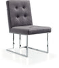 Alexis Grey Velvet Dining Chair (set of 2)