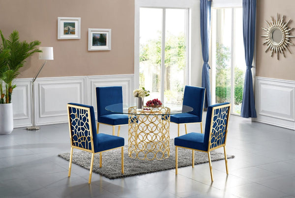 ... Opal Navy Velvet Dining Chair Gold (Set Of 2) ...