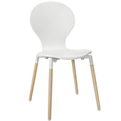 Path Dining Wood Side Chair White