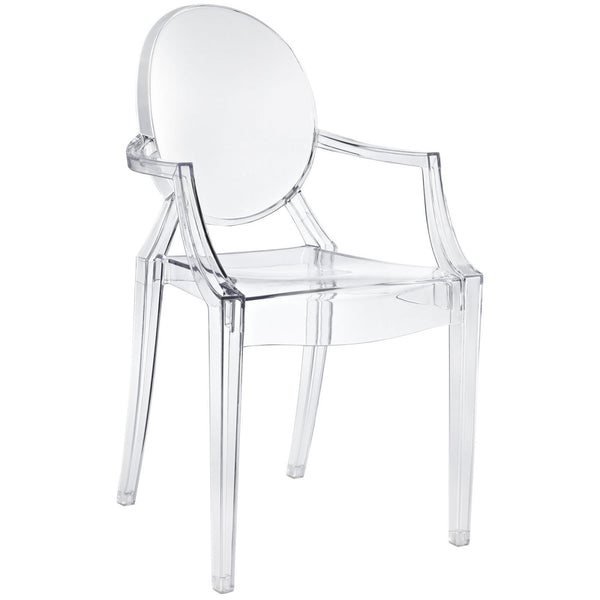Dining Chairs - Modway EEI-121-CLR Casper Ghost Dining Armchair | 848387010492 | Only $105.05. Buy today at http://www.contemporaryfurniturewarehouse.com