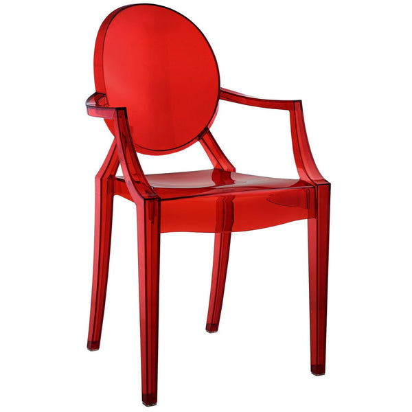 Dining Chairs - Modway EEI-121-RED Casper Ghost Dining Armchair | 848387057381 | Only $91.00. Buy today at http://www.contemporaryfurniturewarehouse.com
