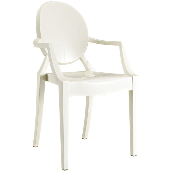 Dining Chairs - Modway EEI-121-WHI Casper Ghost Dining Armchair | 848387020989 | Only $105.55. Buy today at http://www.contemporaryfurniturewarehouse.com