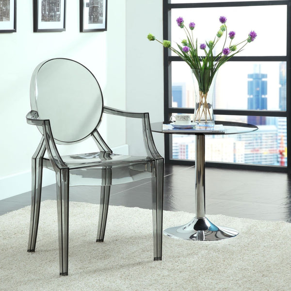 Dining Chairs - Modway EEI-121-YLW Casper Ghost Dining Armchair | 848387020996 | Only $111.80. Buy today at http://www.contemporaryfurniturewarehouse.com