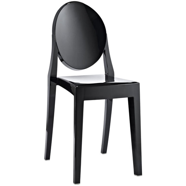 Dining Chairs - Modway EEI-122-BLK Casper Ghost Dining Side Chair | 848387000042 | Only $77.00. Buy today at http://www.contemporaryfurniturewarehouse.com