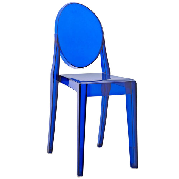 Dining Chairs - Modway EEI-122-BLU Casper Ghost Dining Side Chair | 848387057398 | Only $77.00. Buy today at http://www.contemporaryfurniturewarehouse.com