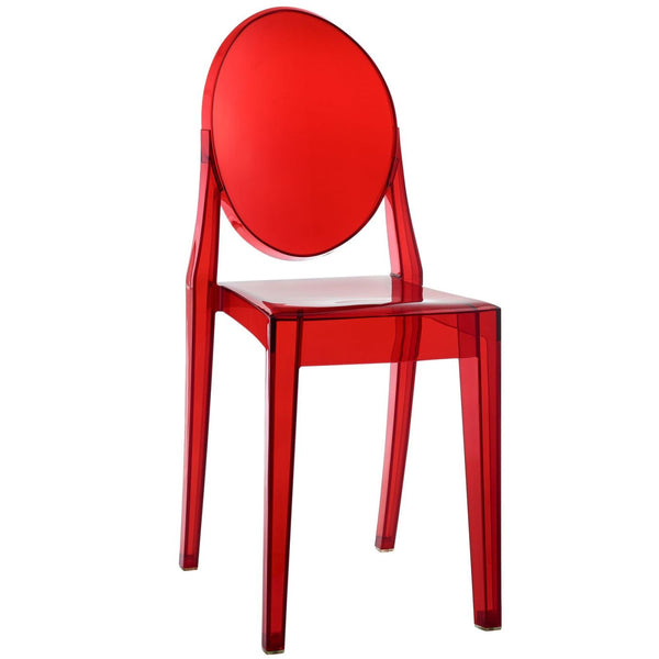 Dining Chairs - Modway EEI-122-RED Casper Ghost Dining Side Chair | 848387006532 | Only $77.00. Buy today at http://www.contemporaryfurniturewarehouse.com