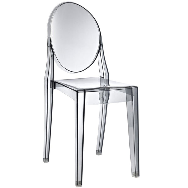 Dining Chairs - Modway EEI-122-SMK Casper Ghost Dining Side Chair | 848387021023 | Only $77.00. Buy today at http://www.contemporaryfurniturewarehouse.com