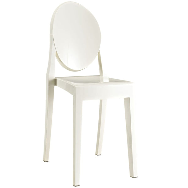 Dining Chairs - Modway EEI-122-WHI Casper Ghost Dining Side Chair | 848387021030 | Only $77.00. Buy today at http://www.contemporaryfurniturewarehouse.com