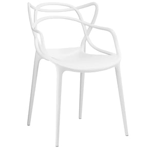 Entangled Dining Armchair White Chair