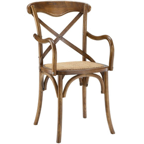 Dining Chairs - Modway EEI-1538-WAL Gear Dining Armchair | 848387053093 | Only $109.75. Buy today at http://www.contemporaryfurniturewarehouse.com
