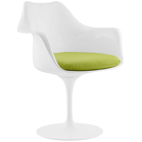Dining Chairs - Modway EEI-1595-GRN Lippa Faux Leather Dining Arm Chair White | 848387055097 | Only $187.00. Buy today at http://www.contemporaryfurniturewarehouse.com