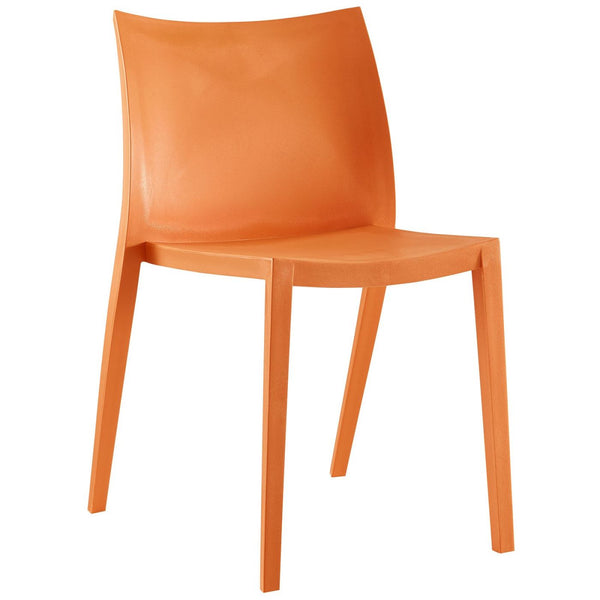 Modway Draw Dining Side Chair in Orange