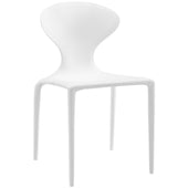Draw Dining Side Chair White