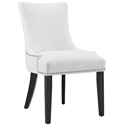 Dining Chairs - Modway EEI-2228-WHI Marquis Faux Leather Dining Chair | 889654065937 | Only $121.00. Buy today at http://www.contemporaryfurniturewarehouse.com