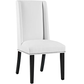 Baron Modern Faux Leather Dining Chair White